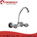 Faucet de bronze Polished da cozinha de dois punhos (ZS64502)