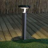 Luz solar inoxidable del césped del redondo 1 LED con las estacas