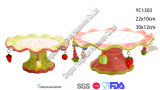 Bandeja de cerámica de la torta para la Navidad decorativa