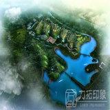 Representación de la planificación paisajística del jardín de la ciudad con la alta resolución