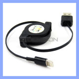 Pin 8 zu USB Retractable Data Synchronisierung Charger Cable für Apple iPhone 5 5c 5s
