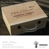 Hongdao a personnalisé le _E en bois normal de caisse de vin de logo