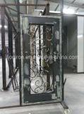 Haltbare bearbeitetes Eisen-Haustüren mit abgeschrägtem Glas