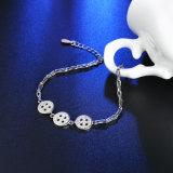 925 Sterling-Stahlarmband Bardian Tastezircon-Silber-Sterlingform-Entwurf für Frauen