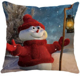 Tissu de soie imité Merry Christmas Carton Cushion Colorful Design Cushion