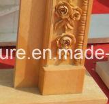 Fleurs de marbre de luxe de bordure de cheminée découpées par main (SY-MF137)