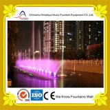 Fontana di musica con differenti reticoli dell'acqua e lampade di RGB