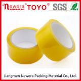 Ninguna cinta adhesiva amarillenta de la burbuja para el cartón