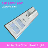 уличный свет 90W интегрированный солнечный СИД с APP