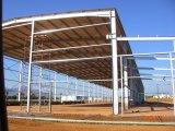Almacén, construcción de la estructura de acero (SSW 15032)