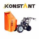 Descarregador do jardim do carrinho de mão da potência de três rodas com carregamento 250kg
