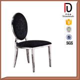 Aço inoxidável antigo que janta a cadeira