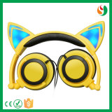 중국 형식 귀여운 디자인에 의하여 타전되는 입체 음향 화려한 고양이 헤드폰