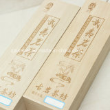 Rectángulo de regalo de madera barato de la insignia del diseño de encargo del cajón