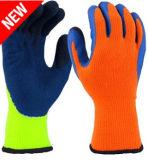 乳液の上塗を施してある安全手袋との熱及び冷たい抵抗力がある最高