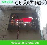 Grande sinal ao ar livre do diodo emissor de luz, anunciando o indicador de diodo emissor de luz ao ar livre, tela P10 ao ar livre do diodo emissor de luz