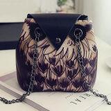 Saco de ombro feminino Messenger Hobo Bag Bolsa com impressão de coruja Sy7885