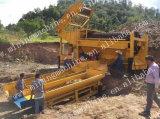 Planta de lavagem do ouro novo do Placer