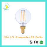 Stoele G50 7W halbe LED Birne Glod-Überzogene weißglühende Lampe