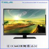"""18.5 """" economias de energia dobro lisas do afinador da televisão DVB-S2 do luminoso do diodo emissor de luz do 16:9 da tela"""