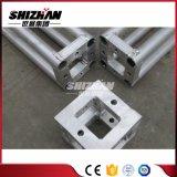 Pequeño tornillo de aluminio cuadrado de Shizhan 100*100m m/tubo Braguero-Redondo del tornillo