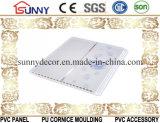 Drucken Belüftung-Decken-Wand der mittleren Nut mit zwei goldenen Zeilen Cielo Raso De PVC