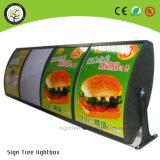Rectángulo ligero del menú caliente del producto LED para los alimentos de preparación rápida