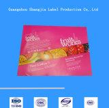 El alimento importado etiqueta el vino, etiquetas engomadas de los productos del cuidado médico