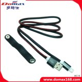 De zwarte Kabel van de Lader van de Huid USB met Kwaliteit Hight