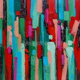 Abstract Kleurrijk Olieverfschilderij (ZH3198)