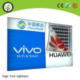 Rectángulo ligero de la tela LED de la tensión para hacer publicidad