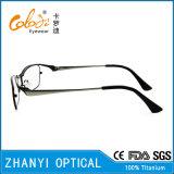 Lunettes de lunette à lunette optique Lunettes de lunette à lunette de titane à crémaillère (9313)