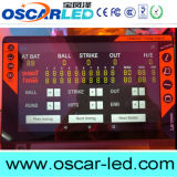 옥외 사용법 및 10mm 화소 LED 귀뚜라미 득점판