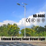 (ND-R40C) 120lm/W 최고 밝은 태양 빛을%s 가진 5m ~10m 전등 기둥을 점화하는 조경을%s 80W 태양 빛