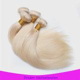 Extensões naturais do cabelo, trama loura européia do cabelo humano da cor