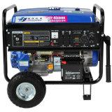 генератор газолина 6kw с колесом и батареей 12ah