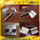 Perfil de alumínio extrudido com perfuração, perfuração, dobra, fresagem