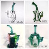 Gldg Birdcage-Dusche-Tabak-Qualitäts-hoher Farben-Filterglocke-Glasfertigkeit-Aschenbecher-rauchendes Wasser-Glasrohr mit Fabrik-Preis