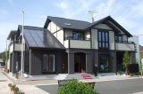 Casa del estilo de los E.E.U.U. con la casa prefabricada de acero creativa del garage