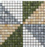 Mosaico di marmo naturale Mixed speciale dell'acciaio inossidabile di disegno (FYSM070)