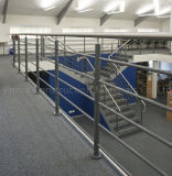 Gemakkelijk installeer de BinnenLeuning van het Metaal met Traliewerk van de Staaf van het Staal het Stevige