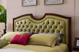 La base suave de lujo del cuero genuino 2017 en el marco de madera sólida para la casa del dormitorio fija Jbl2035