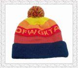 Neue Form-multi Farben wärmen gestrickten Beanie-Hut für Mädchen (1-3374)