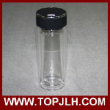Doble cubierta de cristal vacío de la botella de agua del aislamiento taza de café