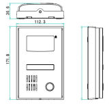 Entrata di alluminio del telefono del portello del citofono di alta qualità video