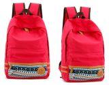 (KL220) Rote Segeltuch-Schule-Beutel für Mädchen-Form-Freizeit-Rucksack