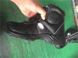 Sapatas de segurança de couro de Nubuck da indústria de sapatas da proteção do enxerto de Italy anti