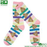 Сладостный Cosy шарж Stripes носки женщин хлопка