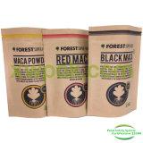 La hoja alineó el papel de Kraft se levanta la bolsa para los granos de café