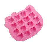 La FDA délivrent un certificat le moulage matériel de gâteau de silicones de catégorie comestible, bonjour moulage de gâteau des silicones 16PCS formé par Kitty/bonjour moulage de glace de forme de Kitty